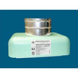 "M&M - 602R6844 - 8"" x 4"" x 4"" #602R6 DucTite® Register Box with R6"" DucTite® Insulator"