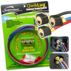 Mainstream Engineering - QT2810 - QwikLug Compressor Terminal Repair Kit 10AWG with 2' Leads and Nut Connection