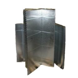 "McDaniel Metals  - 191/2X19X48R - 19-1/2"" x 19"" x 48"" Supply Plenum - R6 Insulated"