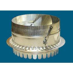 """7"""" #500DBD Metal DuctBoard Starting Collar with Damper"""