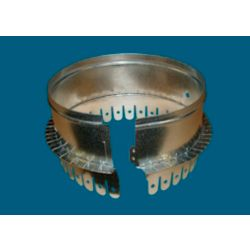"""9"""" #508S Metal Starting Collar with Holes and Sealed Inside Flange for 1"""" or 1 1/2"""" Ductboard"""