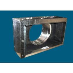 """6"""" x 6"""" x 5"""" #640R6 Register Box 4"""" Tall without Tabs"""