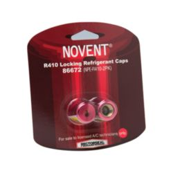 "Rectorseal® - 86672  Novent Pink R-410 Eurocap 5/16"" Thread 2 pack (Blister Card)"