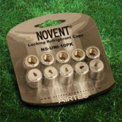 """Rectorseal - 86691 - Novent 1/4"""" Universal Silver Locking Caps 10-Pk"""