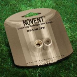 "Novent® - 86692 - 1/4"" Universal Silver Locking Caps"