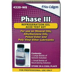 Nu-Calgon - 4320-W8 - Refrigeration Oil Acid Test Kit Phase III