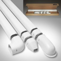 "Fortress® - 84105 - 4-1/2"" x 12' Wall Duct Kit White"