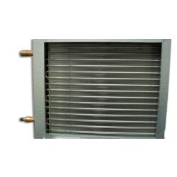 """Mortex - Summit 21-1/8"""" x 21"""" x 10"""" 2-Row Cased Hydronic Heating CoiLS Tube - To Fit Air Handlers 88000 BTUh"""