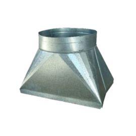 The Metal Shop - 500-129 R6 K/D Plenum 15-3/4 x 11 x 48