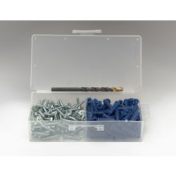 "TopTech - TT-AK1/4HW100 #10 x 1"" HWH Plastic Anchor Kit"