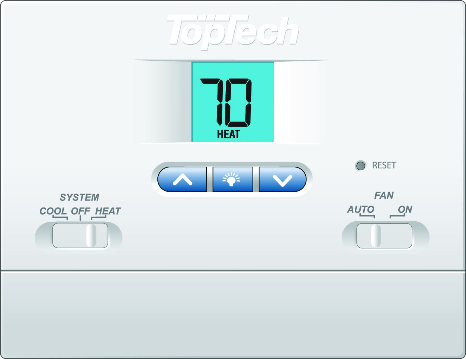 Toptech Tt N 421 Digital Non Programmable Thermostats Carrier Hvac