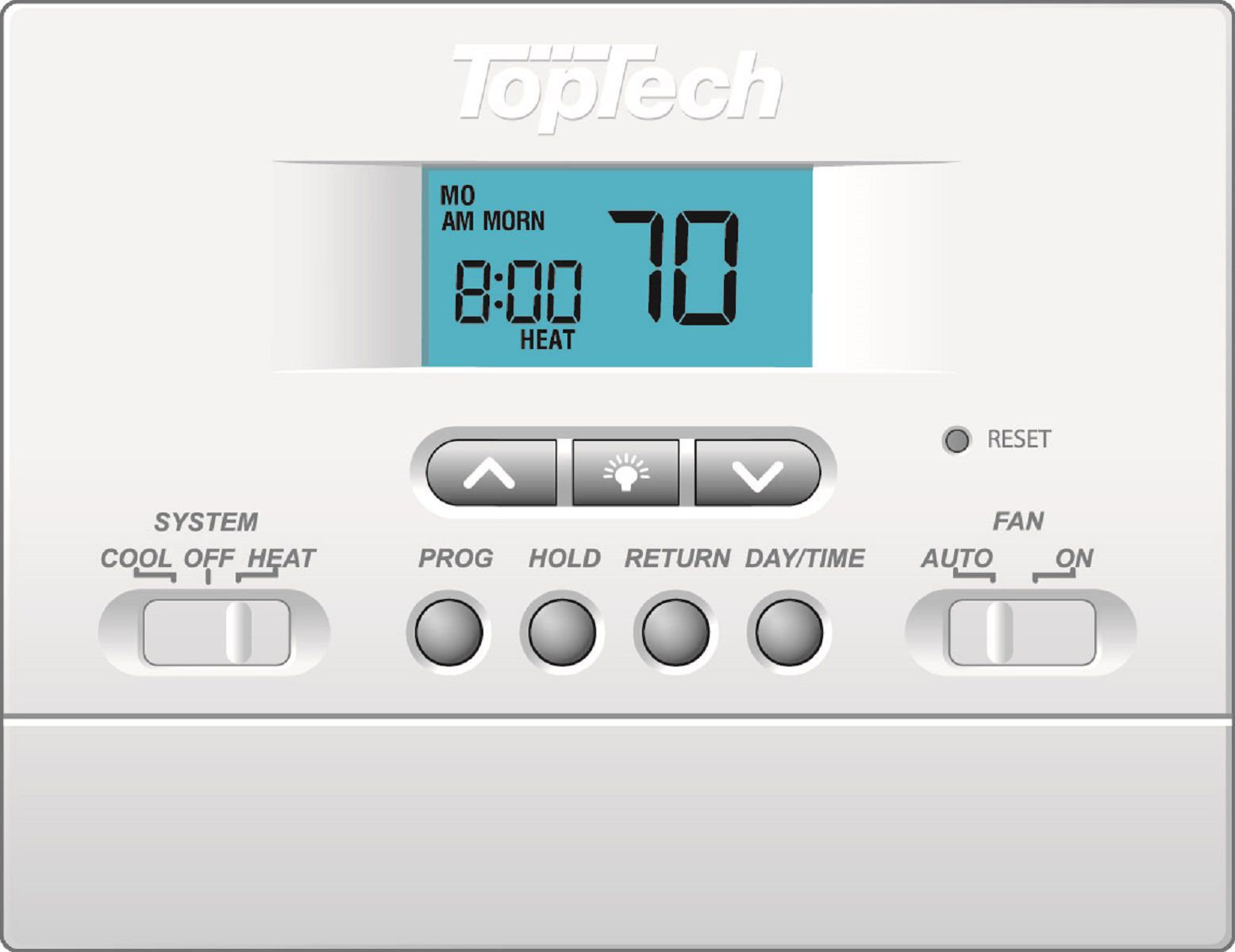 Toptech Tt P 411 Digital Programmable Thermostats Carrier Hvac