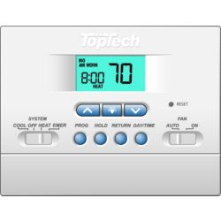 TopTech - TT-P-421  5-2 Day Programmable Thermostat 2 Heat/1 Cool