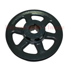 "Totaline® - P461-3504  Adjustable Motor Pulley 5"", 5/8"" Bore, 3.4""-4.4"" Pitch Dia."