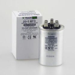 TRADEPRO® - TP-CAP-20/5/440R  20+5 MFD 440 Volt Round Run Capacitor