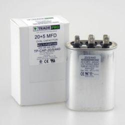 TRADEPRO® - TP-CAP-20/5/440  20+5 MFD 440 Volt Oval Run Capacitor