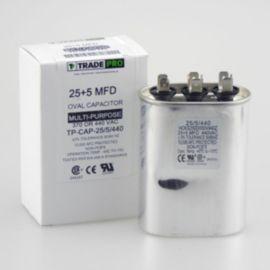 TRADEPRO® - TP-CAP-25/5/440 25+5 MFD 440 Volt Oval Run Capacitor