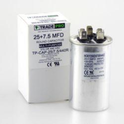 TRADEPRO® - TP-CAP-25/7.5/440R  25+7.5 MFD 440 Volt Round Run Capacitor