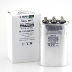 TRADEPRO® - TP-CAP-30/5/440  30+5 MFD 440 Volt Oval Run Capacitor