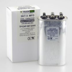 TRADEPRO® - TP-CAP-30/7.5/440  30+7.5 MFD 440 Volt Oval Run Capacitor