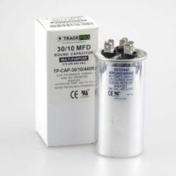 TRADEPRO® - TP-CAP-30/10/440R  30+10 MFD 440 Volt Round Run Capacitor