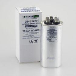 TRADEPRO® - TP-CAP-35/3/440R  35+3 MFD 440V Round Run Capacitor