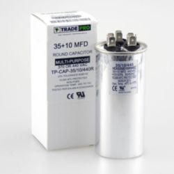 TRADEPRO® - TP-CAP-35/10/440R  35+10 MFD 440 Volt Round Run Capacitor