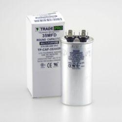 TRADEPRO® - TP-CAP-35/440R  35 MFD 440V Round Run Capacitor