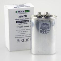 TRADEPRO® - TP-CAP-35/440  35 MFD 440 Volt Oval Run Capacitor