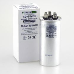 TRADEPRO® - TP-CAP-40/5/440R  40+5 MFD 440V Round Run Capacitor