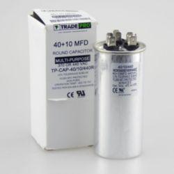 TRADEPRO® - TP-CAP-40/10/440R  40+10 MFD 440 Volt Round Run Capacitor