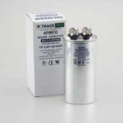 TRADEPRO® - TP-CAP-40/440R  Round Run Capacitor 40 MFD 440V