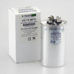 TRADEPRO® - TP-CAP-45/10/440R  45+10 MFD 440 Volt Round Run Capacitor