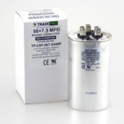 TRADEPRO® - TP-CAP-50/7.5/440R  50+7.5 MFD 440V Round Run Capacitor