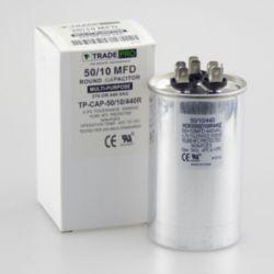 TRADEPRO® - TP-CAP-50/10/440R  50+10 MFD 440 Volt Round Run Capacitor