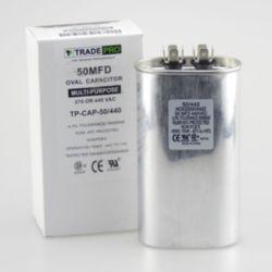 TRADEPRO® - TP-CAP-50/440  50 MFD 440 Volt Oval Run Capacitor