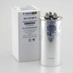 TRADEPRO® - TP-CAP-60/10/440R  60+10 MFD 440 Volt Round Run Capacitor