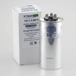 TRADEPRO® TP-CAP-70/7.5/440R Round Run Capacitor 70+7.5 MFD 440V