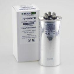 TRADEPRO® - TP-CAP-70/10/440R  70+10 MFD 440 Volt Round Run Capacitor