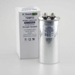 TRADEPRO® - TP-CAP-70/440R 70 MFD 440 Volt Round Run Capacitor