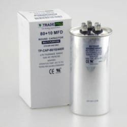TRADEPRO® - TP-CAP-80/10/440R  80+10 MFD 440 Volt Round Run Capacitor