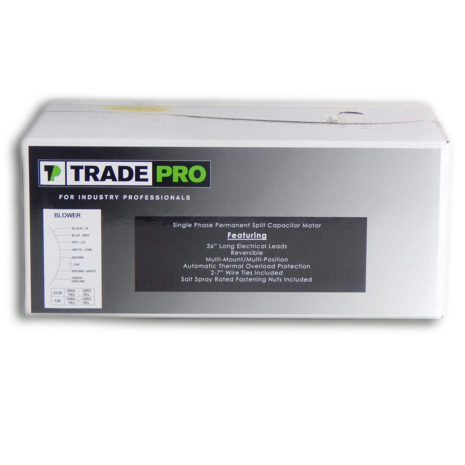 TRADEPRO® - TP-E50-3SP2 Direct Drive Blower Motor 1/2 HP 208/230V ...