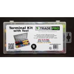 TRADEPRO® - Terminal kit includes crimping tool - Package of 180