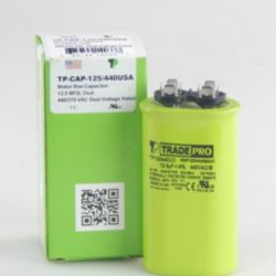 TRADEPRO® - TP-CAP-12.5/440USA  12.5 MFD 440/370V Oval Capacitor (Made in USA)