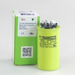 TRADEPRO® - TP-CAP-25/5/440USA-R  25/5 MFD 440/370V Round Capacitor (Made in USA)