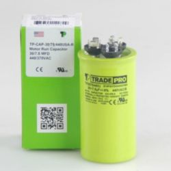 TRADEPRO® - TP-CAP-30/7.5/440USA-R  30/7.5 MFD 440/370V Round Capacitor (Made in USA)