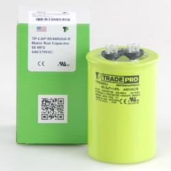 TRADEPRO® - TP-CAP-50/440USA-R  50 MFD 440/370V Round Capacitor (Made in USA)