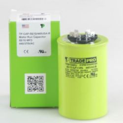 TRADEPRO® - TP-CAP-55/10/440USA-R  55/10 MFD 440/370V Round Capacitor (Made in USA)