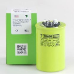 TRADEPRO® - TP-CAP-60/10/440USA-R  60/10 MFD 440/370V Round Capacitor (Made in USA)