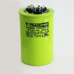 TRADEPRO® - TP-CAP-60/7.5/440USA-R  60/7.5 MFD 440/370V Round Capacitor (Made in USA)